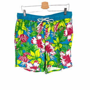 Burnside Tropical Floral Volley Swim Shirts Large